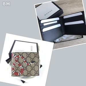 NeW  Gucci Canvas Snake Men 8cards Wallet