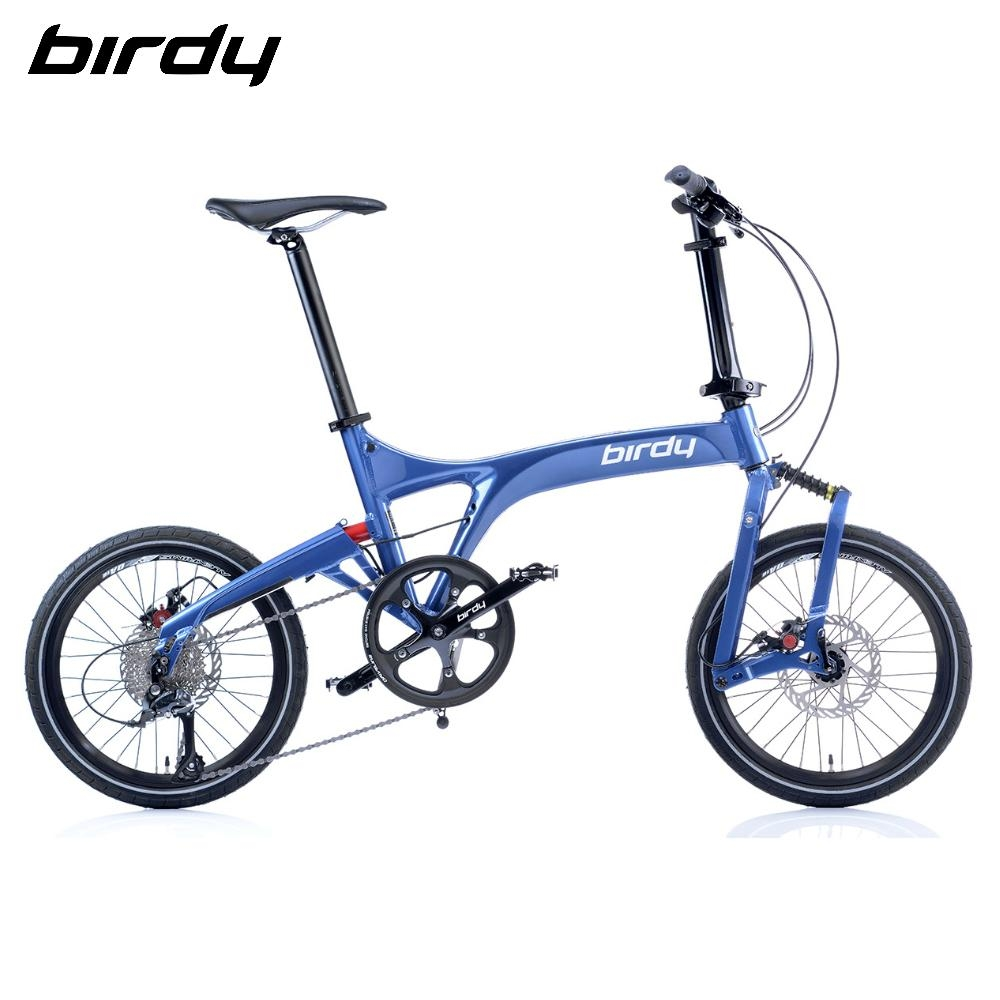 Birdy New BirdyⅢ Standard 9速18吋前後避震縱向折疊車-星空藍