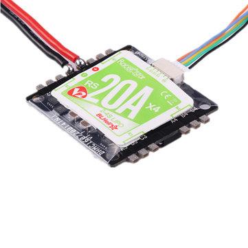 Racerstar RS20Ax4 V2 20A BB2 48 MHz Blheli_S 2-4S 4 trong 1 Opto ESC Hỗ trợ Oneshot42 Multishot 16.5 Dshot600