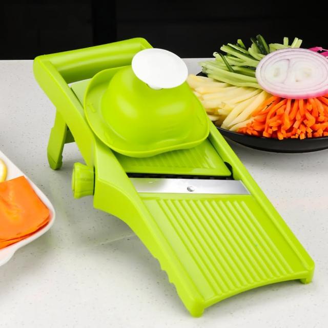 【PUSH!】廚房用品新款無極旋鈕可調節厚度切薯條切絲切片切菜器擦絲器刨絲器(D162)