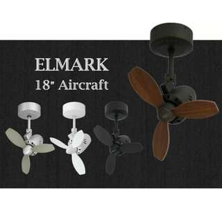 "18"" Aircraft Elmark ceiling fan"