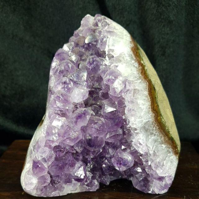 (4150133)天然巴西 紫晶鎮 迷你水晶洞 迷你紫水晶洞 水晶 紫水晶 純天然水晶洞 洞中洞