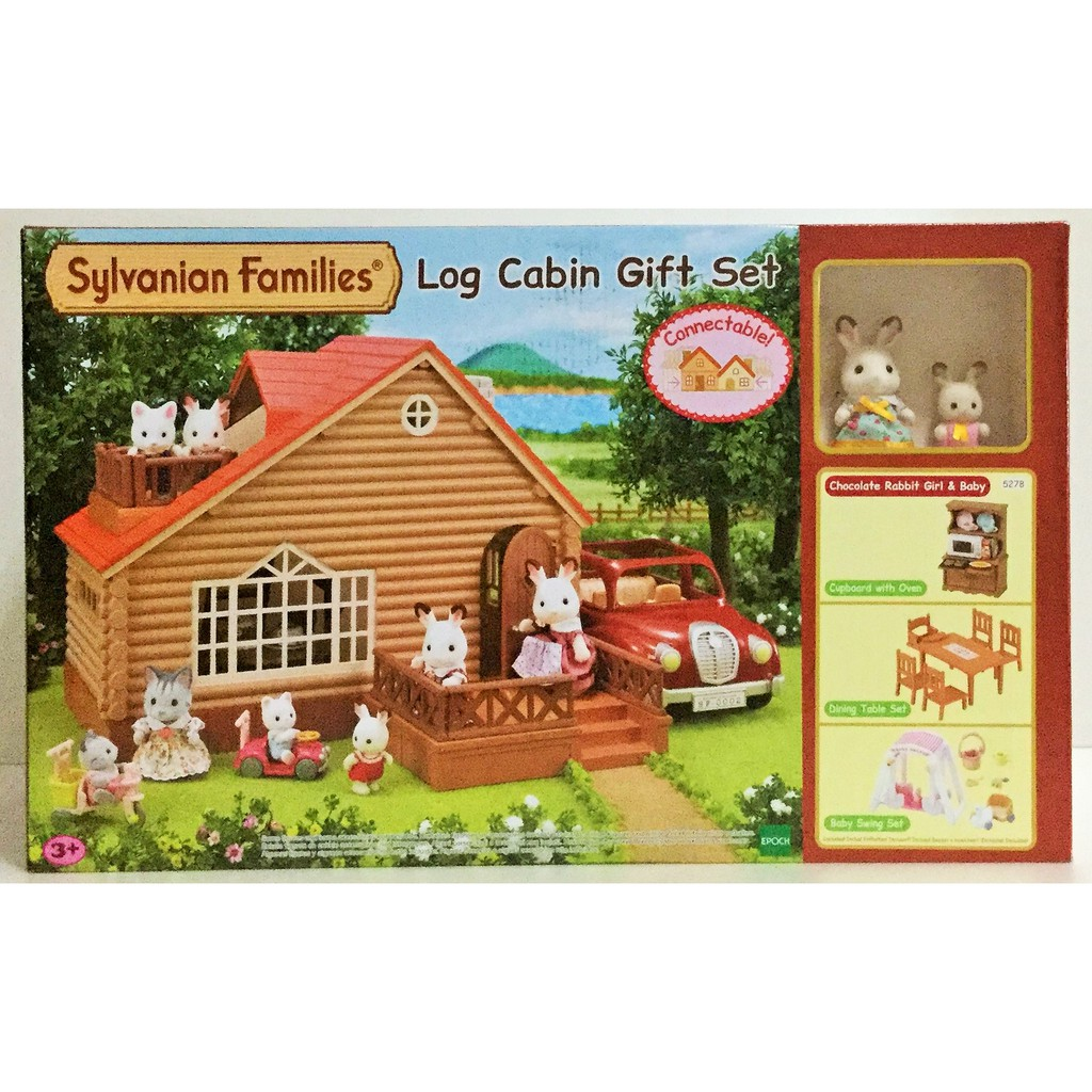 現貨 正版【EPOCH】 森林家族-森林家族小木屋禮盒組A(內附2隻人偶)