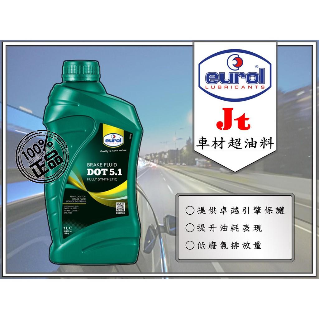 Jt車材 - EUROL DOT5.1 DOT 5.1 全合成 煞車油 剎車油 可自取