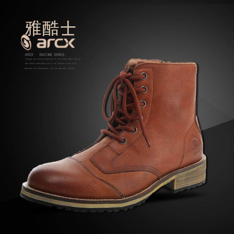 5f4c3f64f0a6 ARCX / Ya Cool Road Rider Boots Motorcycle Casual Riding Shoes Safety  Collision Locomotive Shoes Boots