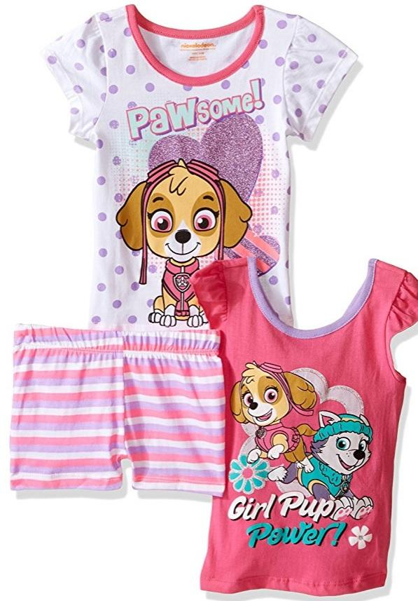 Nickelodeon Girls' 3 Piece Skye Paw Patrol Short Set