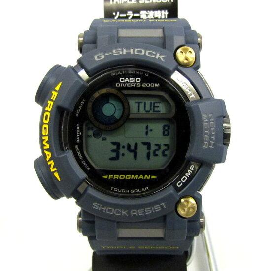 有有G-SHOCK G打擊CASIO卡西歐手錶GWF-D1000NV-2JF蛙人FROGMAN主人界內海軍藍MASTER IN NAVY BLUE電波太陽能強壯的太陽能潛水蓋爾數碼黄色人潛水未使用的物品標簽的箱子的T東大阪商店298107 RY0774 NEXT51