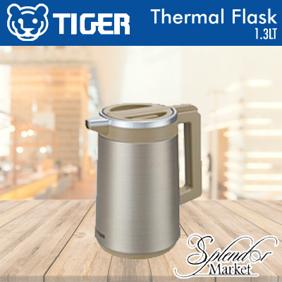 TIGER 1.3LT Thermal Flask (Made In Japan) PRW-A130 / 1.0L/33.8oz / Flat designed top