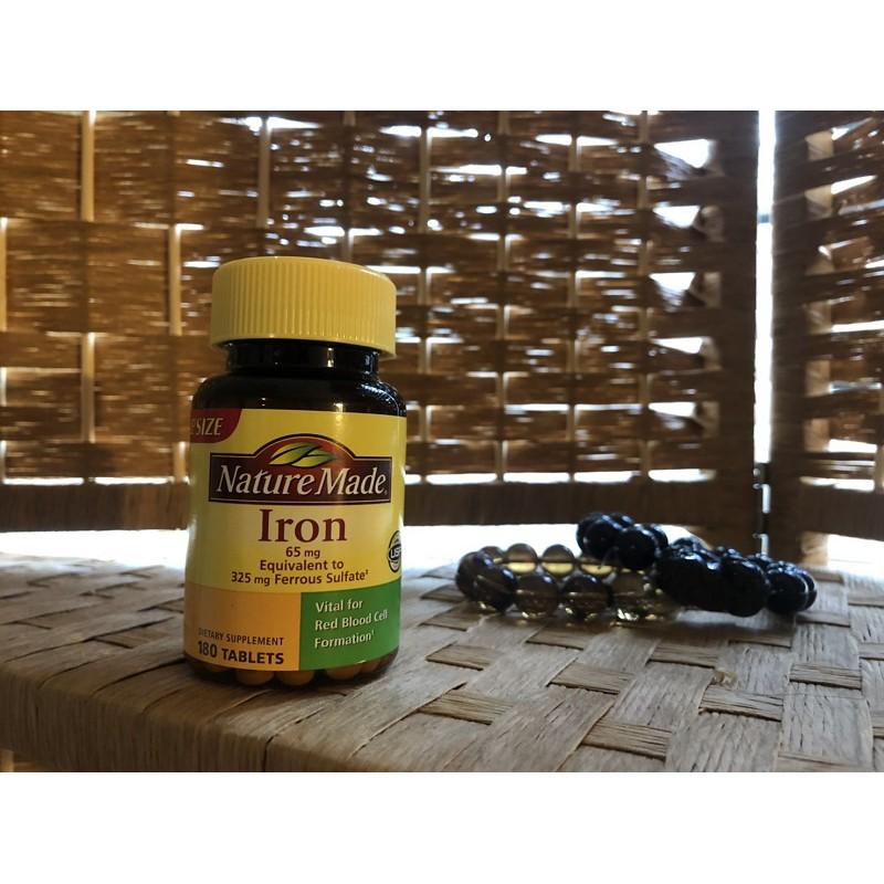 [美國代購]Nature made萊萃美Iron鐵劑180顆裝2罐組