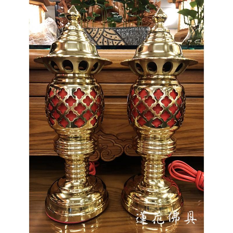 蓮花佛具 (免運費)銅製日式神明佛燈 祖先燈 佛燈 神明燈 附LED燈泡