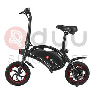 DYU Seated Electric Scooter 5.2Ah Black