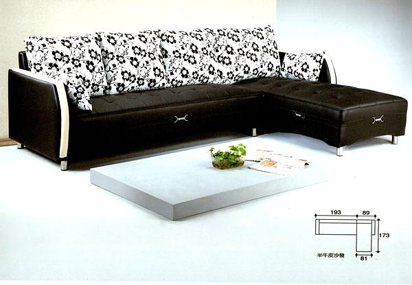 【尚品家具】798-01 狄莉亞水鑚半牛皮L型沙發