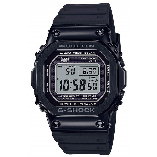 Casio G-Shock GMW-B5000G-1JF Bluetooth Multiband Solar Metal Watch GMW-B5000G-1