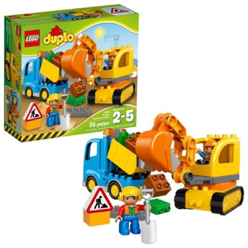《二姆弟》樂高Lego 得寶Duplo 10812卡車和履帶挖土機