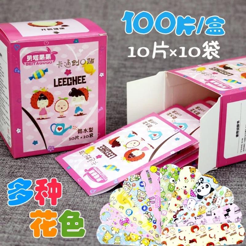 可愛韓國卡通流行OK繃 迷你兒童防水OK繃止血貼 100片/盒