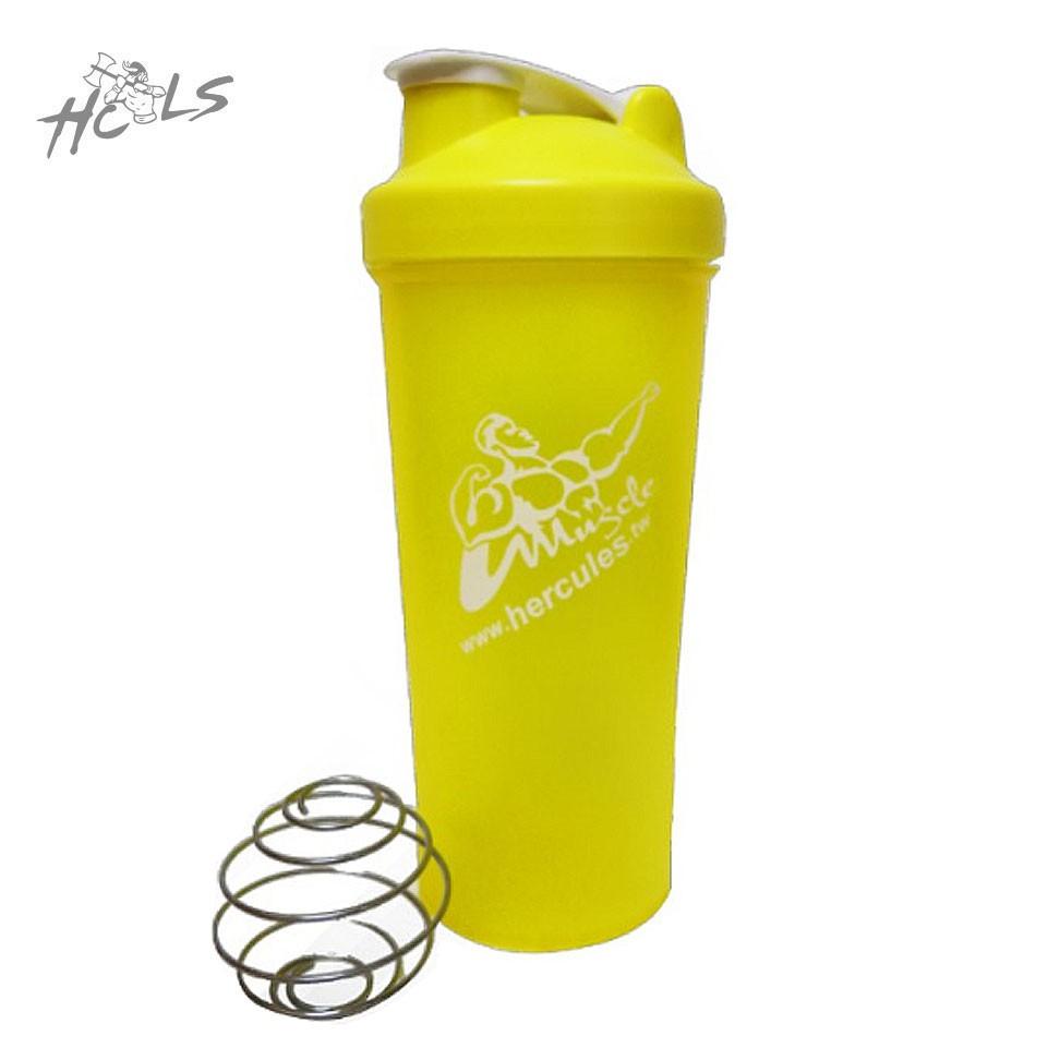 【HCLS 海力士】多功能健身搖搖杯 單色版 黃《700 C.C健身運動用品配備》( 含不鏽鋼金屬攪拌球/濾網 )