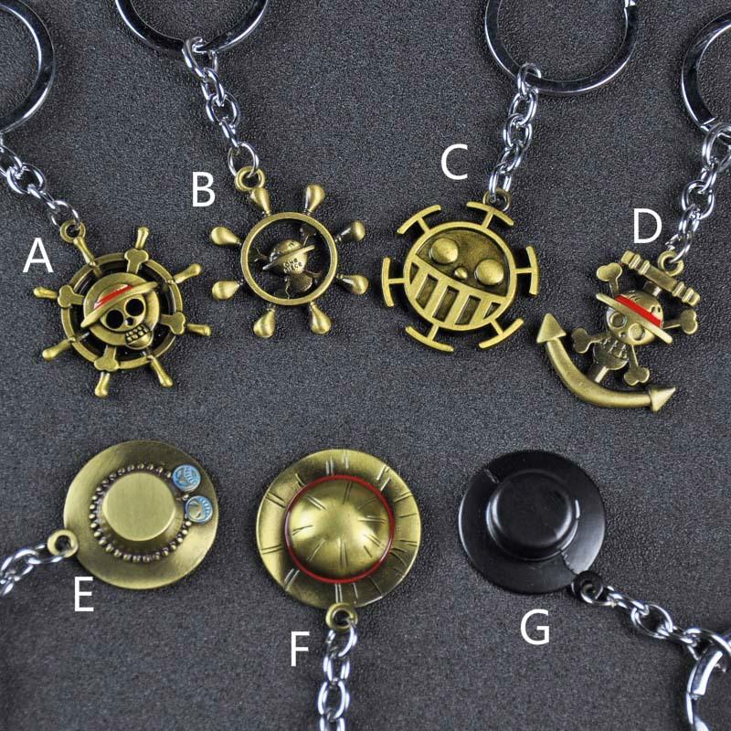 海賊王 航海王吊飾 鑰匙圈 草帽魯夫 喬巴 索隆 金屬鑰匙圈 鑰匙扣 扭蛋機新品 批發價
