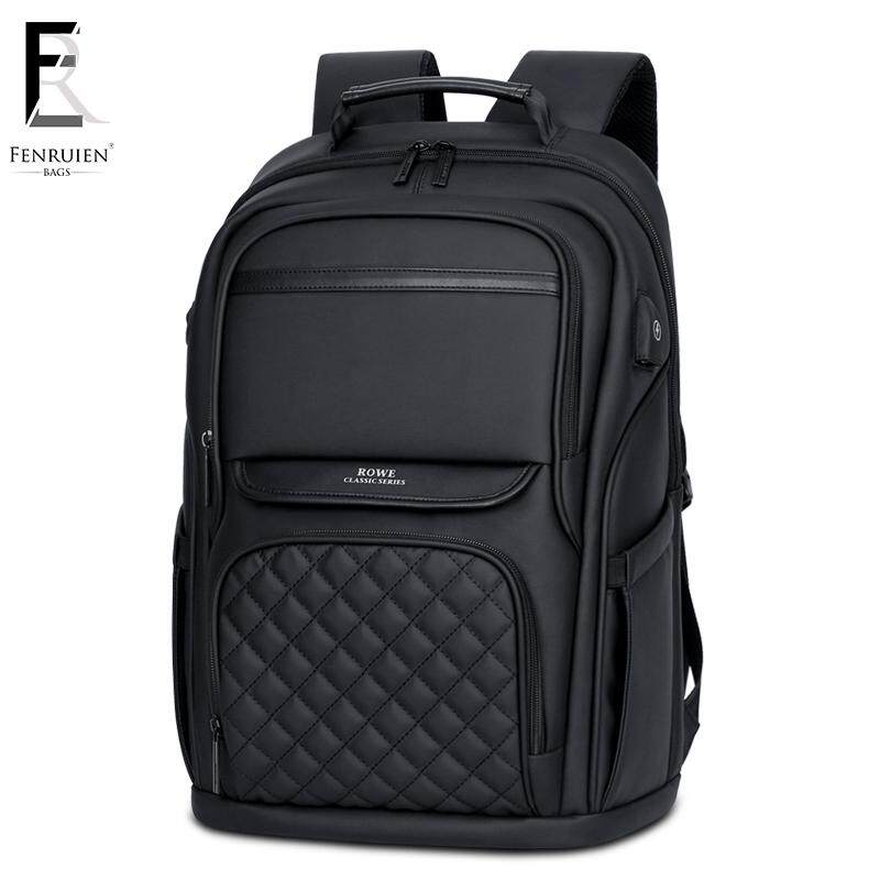 FENRUIEN Business Men's Backpack USB Charging Anti Theft Laptop Backpack 15.6 Inch Travel Backpack
