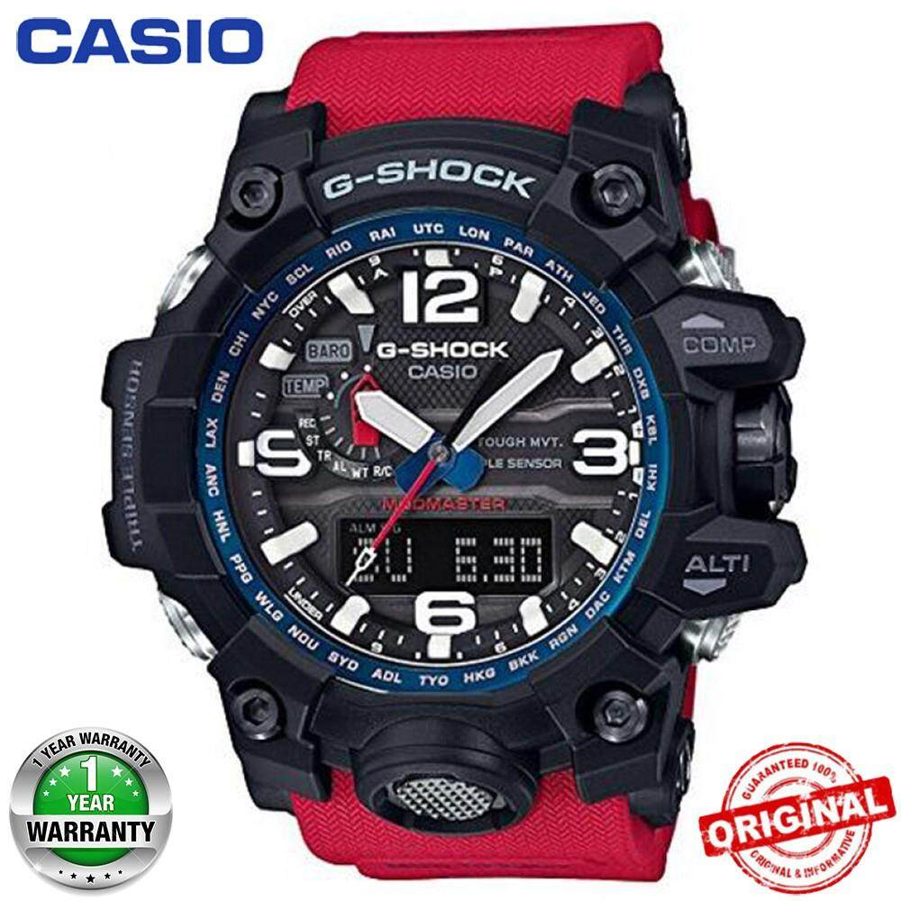 Casio G-Shock GWG-1000 MUDMASTER Red&Black Wrist Watch Men Sport Watches