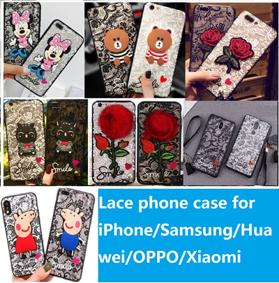 OPPO R11S/R11S Plus/R11/R11 Plus/R9S/R9S Plus/R9/R9 Plus Lace cartoon phone case cover