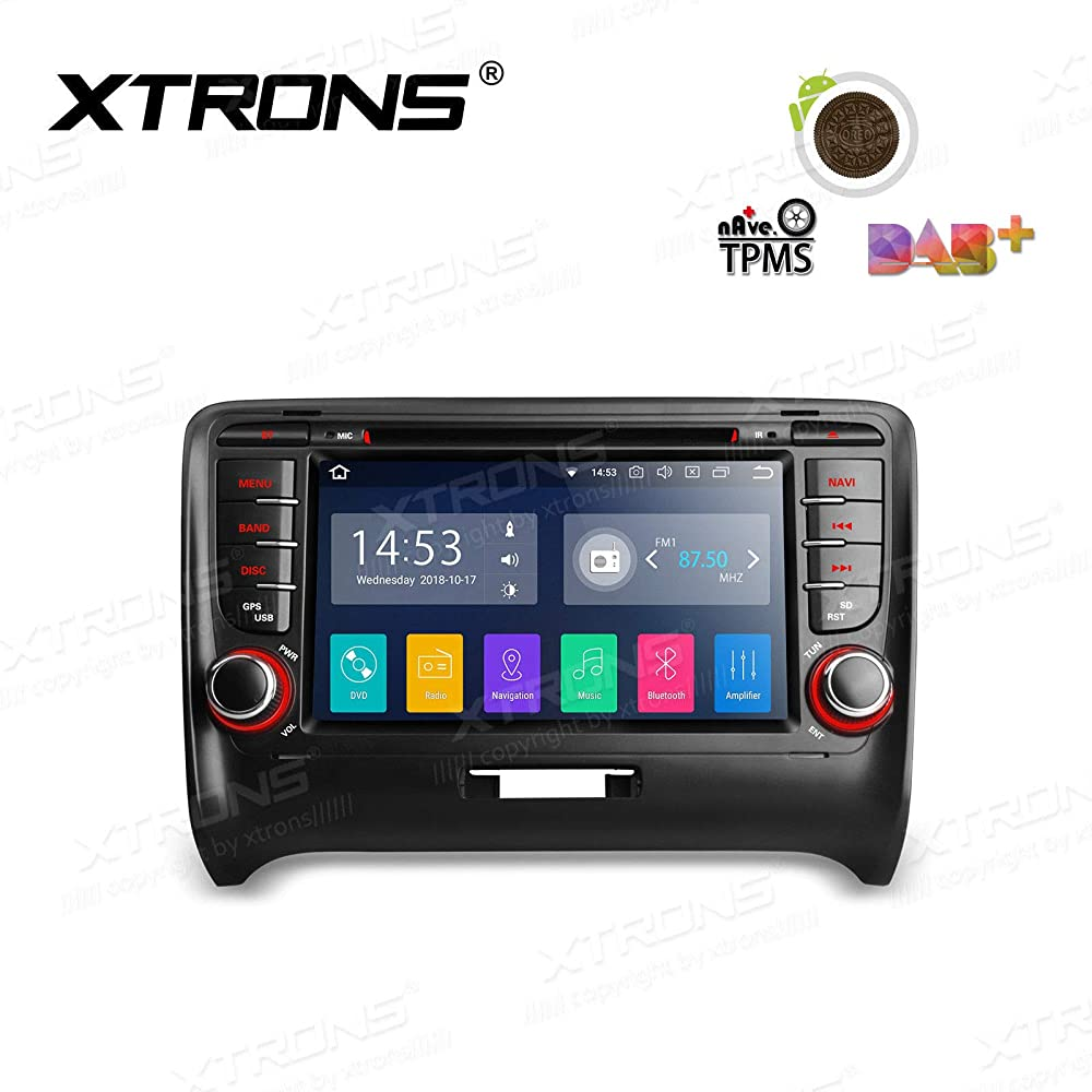 XTRONS 7 inch DVD Player Android 8.1 Touch Display Car Stereo Radio DVD Player GPS Navigator with USB SD Port Bluetooth 5.0 Supports OBD 1080P DVR 4G 3G for Audi TT MK2