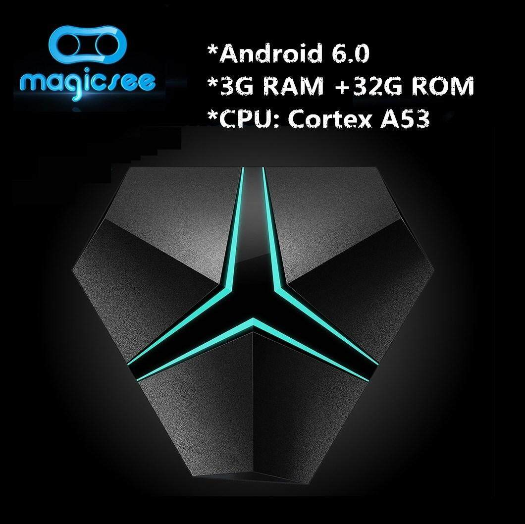 MAGICSEE Iron+ TV Box Media Player Octa Core Cortex - A53 CPU-3+32G EU-BLACK