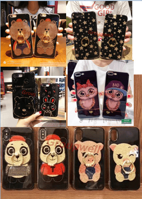 Oppo R11/R11 Plus/R11S Cartoon Glitter Cover Case  24223