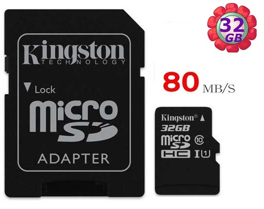 KINGSTON 32GB 32G microSDHC【80MB/s】 microSD SDHC micro SD UHS U1 TF C10 Class10 金士頓 手機記憶卡