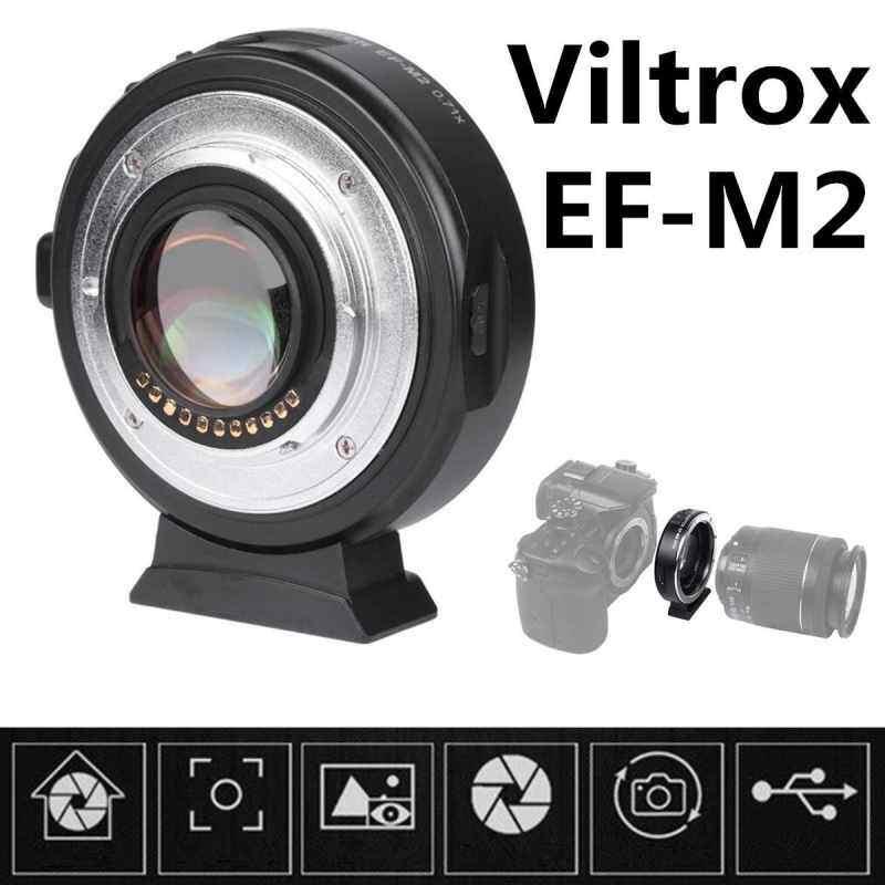 Finemall VILTROX EF-M2 อะแดปเตอร์อิเล็กทรอนิก F Booster 0.71x สำหรับ Canon TO M43 EF MFT