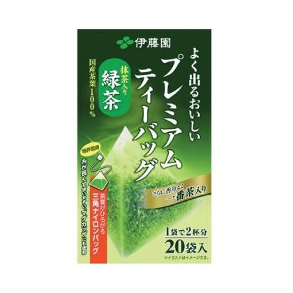 樂婕 伊藤園 抹茶入綠茶 三角茶包20袋入