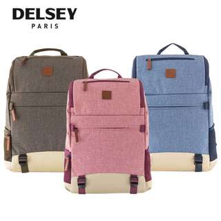 Delsey Maubert Backpack with Laptop Protection Travel Bag