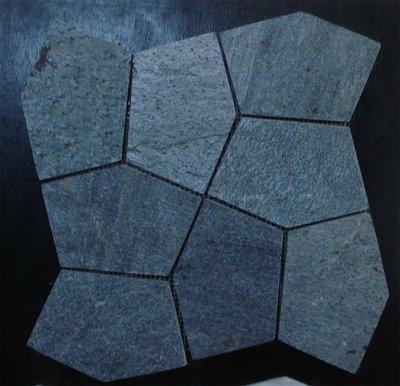 ╭☆雨過天青☆╮ 歐式布魯克石板 網才 電視牆 外牆 浴室 板岩枕木 抿石子 庭園造景