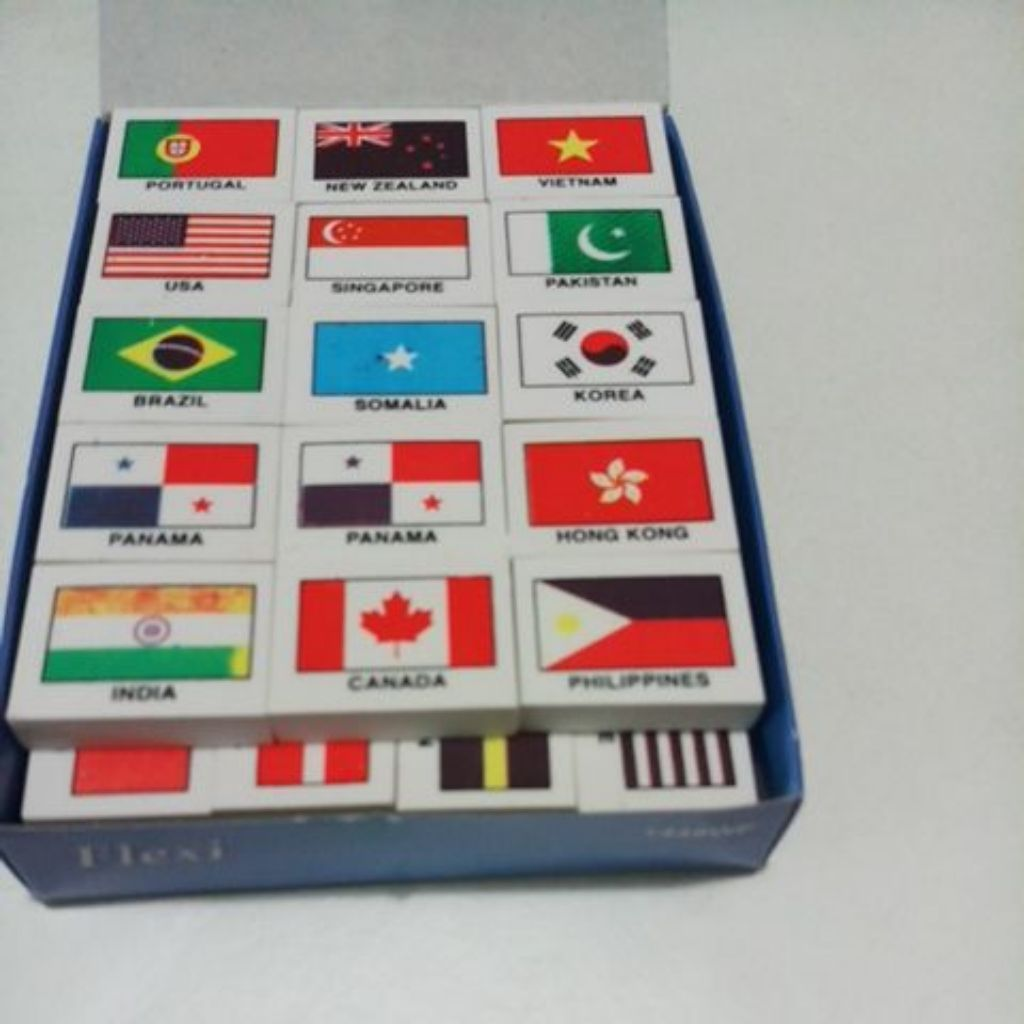 Countries flag erasers