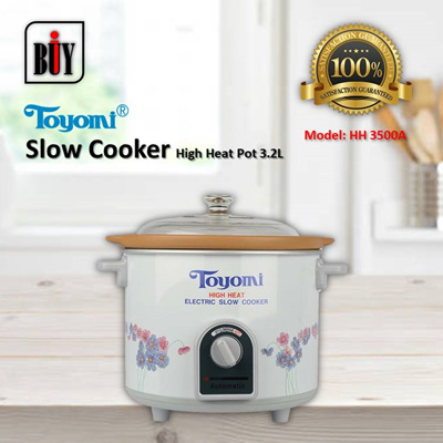 [IBuy] = TOYOMI High Heat Slow Cooker 3.2L [Model: HH 3500A] 100% Satisfaction / 1 Year Warranty