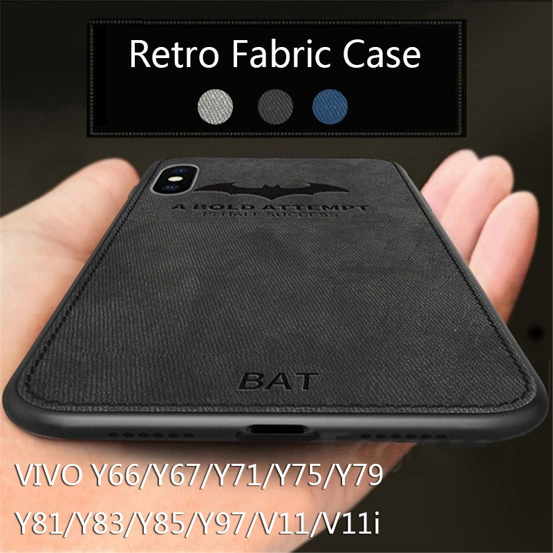 VIVO V11 V11i Y66 Y67 Y71 Y75 Y79 Y81 Y83 Y85 Y97 Case Bat Retro Cloth Cover