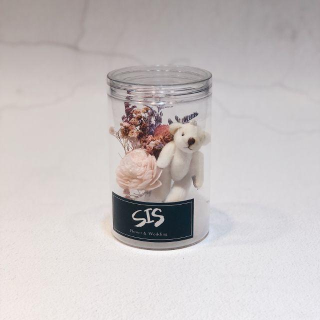 韓式雲朵小熊花瓶 花罐乾燥花捧花 畢業花束 婚禮小物情人節花束