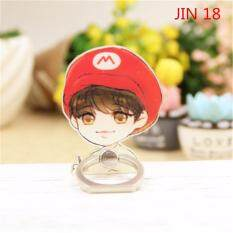 BTS Bangtan Boys JIN Case 360 Degree Rotation Phone Ring Finger Buckle Stand Holder Cell Mobile Phone Stand Accessories Rings ZHK