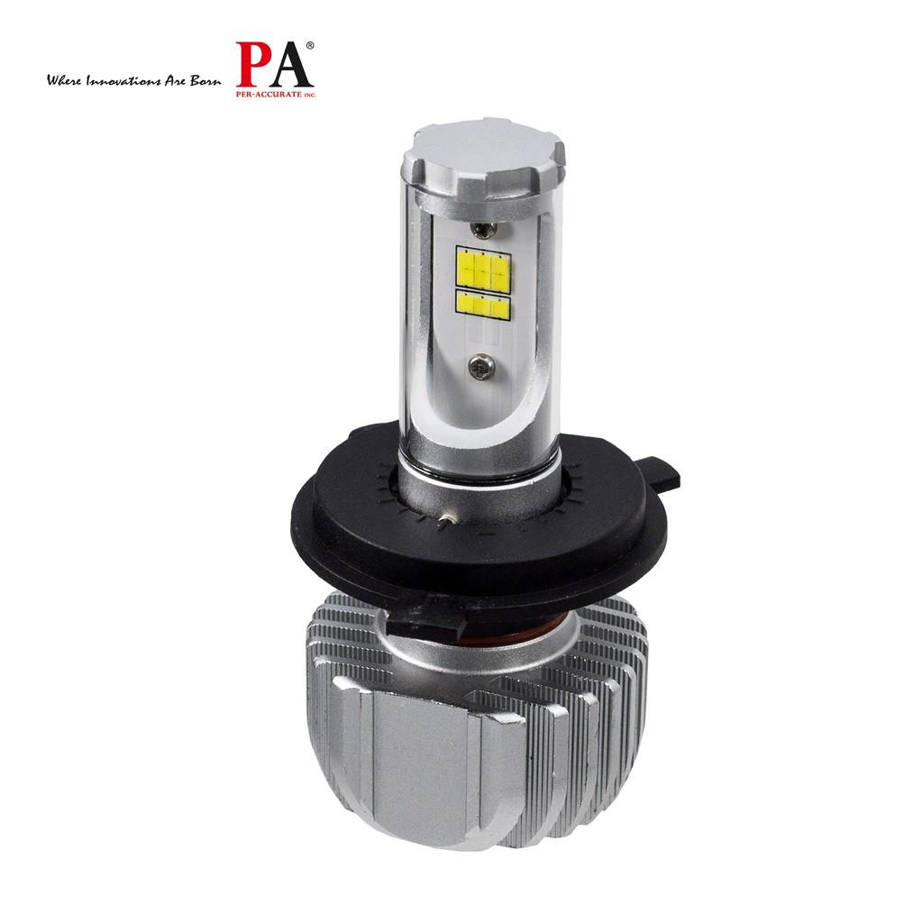 【PA LED】H4 HS1 H17 LED 頭燈 直上型 五色自由選 黃光 暖白 白光 大燈 頭燈 買一送二 超強切線