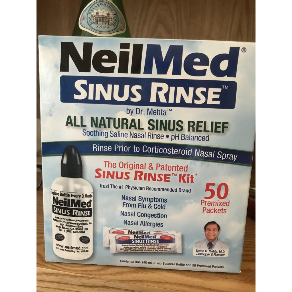 [全新現貨在台] NeilMed 洗鼻清洗瓶 + 50包洗鼻鹽 一套組