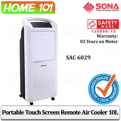 Sona Touch Screen Remote Air Cooler 10L SAC6029