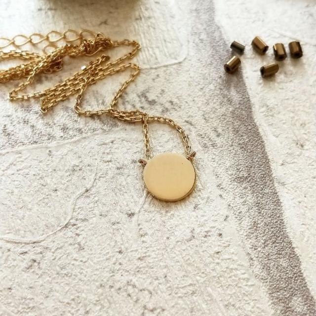 【DoriAN】手作純銀 時尚簡約圓片造型925純銀18k金項鍊(附精美包裝組合 純銀保證卡)