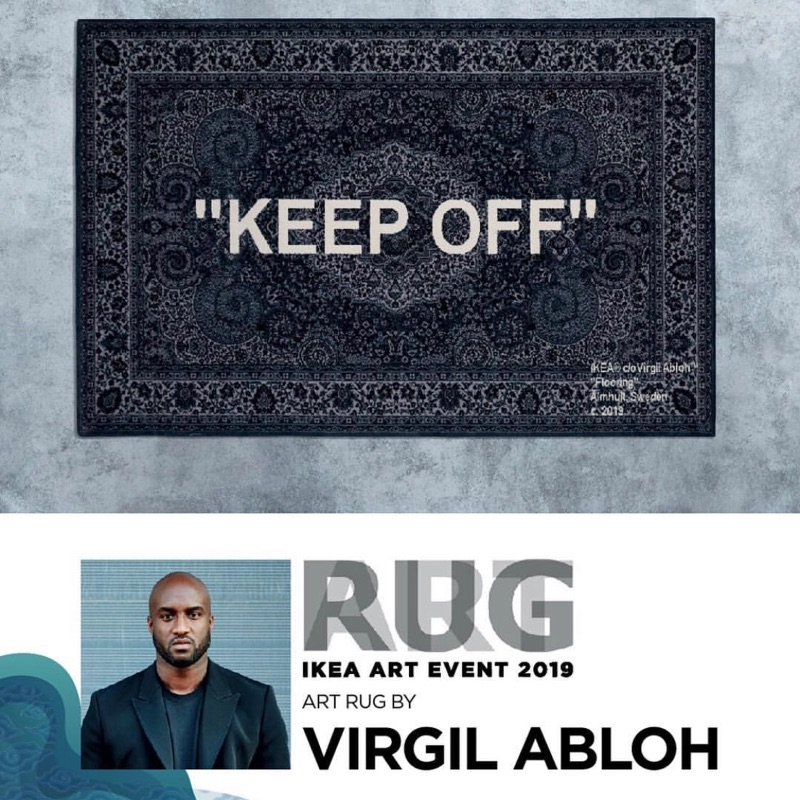 "現貨 台灣公司貨 IKEA x OFF WHITE 創辦人 Virgil Abloh  ""KEEP OFF"" 地毯"
