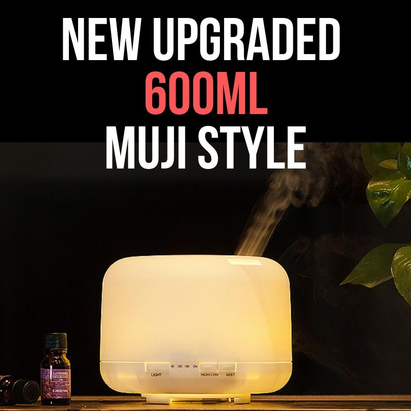 Muji Diffuser 600ml/ Muji Style Aroma Diffuser 8 LED Changing Lights