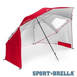 Sport-Brella UPF50+ 戶外野餐海灘兩用傘(紅色)