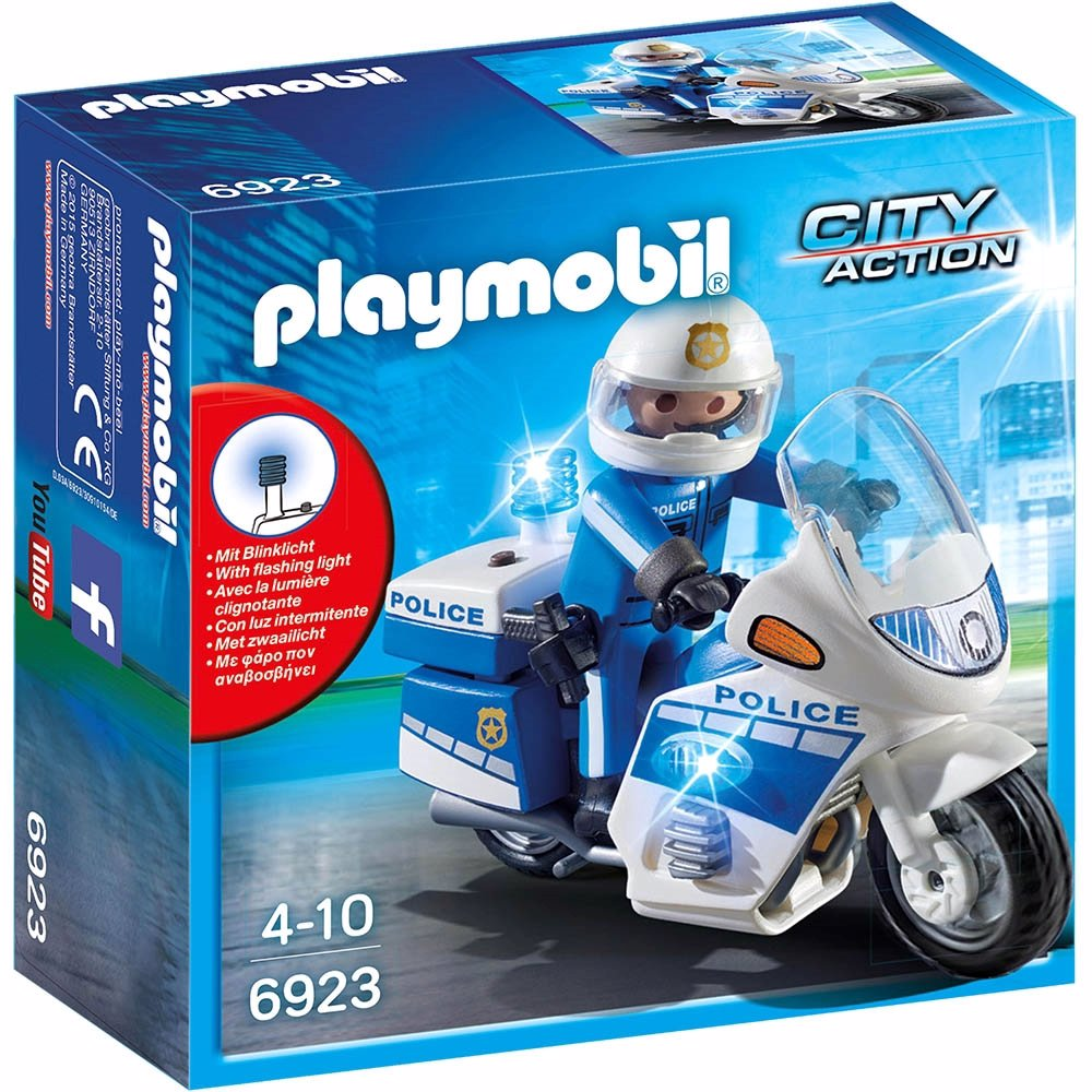 Playmobil - Police Bike With Led Light