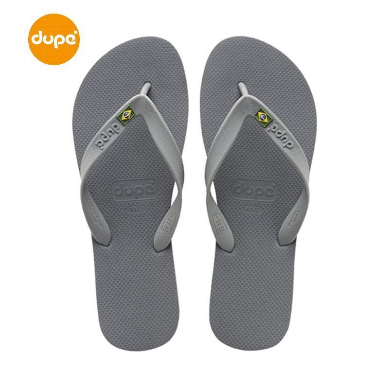 Dupe Brazil New Style Brazil Rubber Flip-flops Men Casual Outer Wear Sandals Flat Anti-slip Sandals