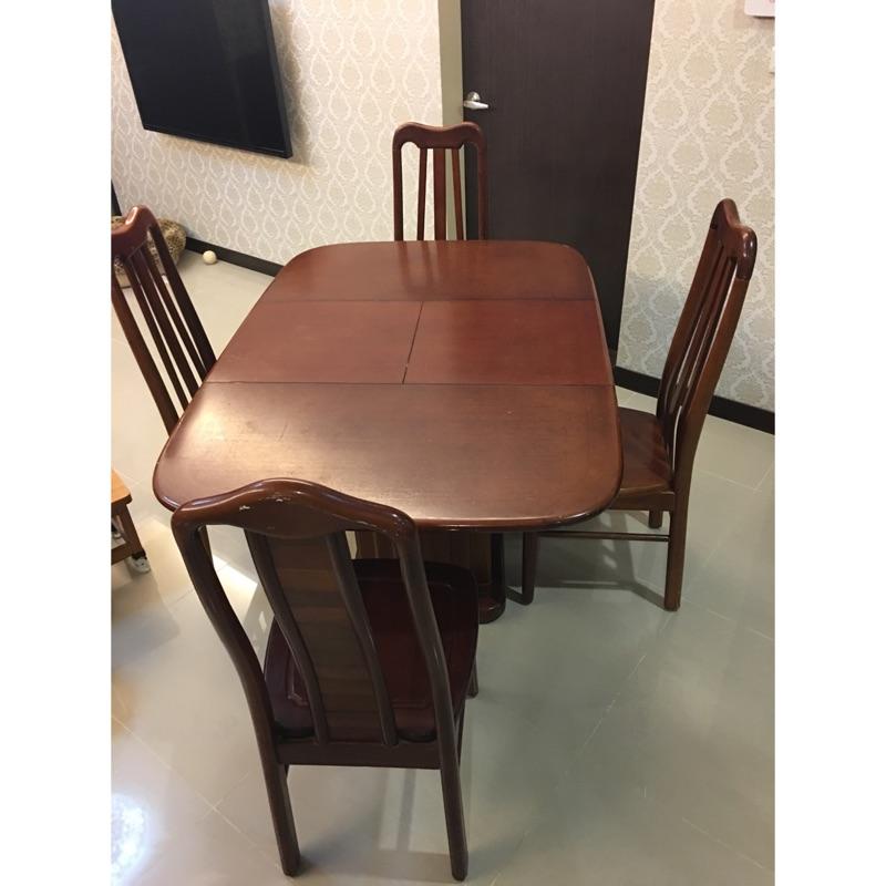 二手實木餐桌椅