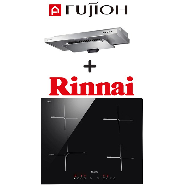 FUJIOH SLM900R SLIMLINE HOOD + RINNAI RB-6024H-CB 4-ZONE INDUCTION HOB