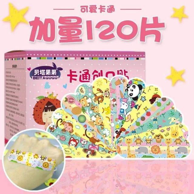 可愛卡通 兒童防水OK繃 一盒120入