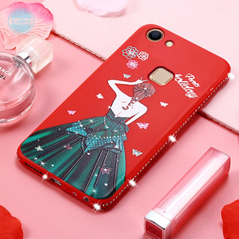 Drilling Goddess Back -TPU Phone Case For VIVO Y71/Y97 Cover